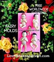 Fairy molds, Fairy moulds, Baby Fairies, Set of 5 Fairy molds, Free worldwide shipping